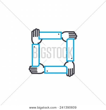 Comprehensive Support Line Icon, Vector Illustration. Comprehensive Support Linear Concept Sign.
