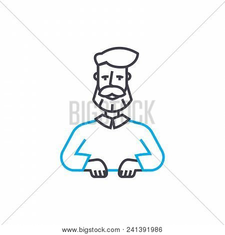 Consumer Market Line Icon, Vector Illustration. Consumer Market Linear Concept Sign.