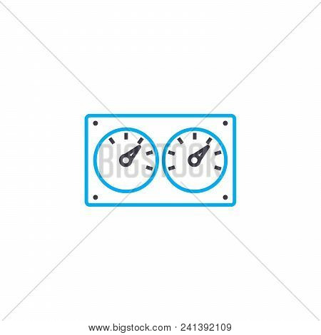 Control Devices Line Icon, Vector Illustration. Control Devices Linear Concept Sign.