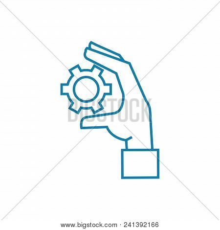 Control Over The Situation Line Icon, Vector Illustration. Control Over The Situation Linear Concept