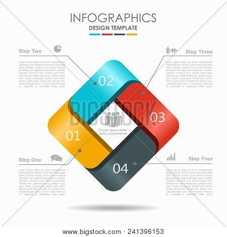 Infographic Template. Vector Illustration. Can Be Used For Workflow Layout, Diagram, Business Step O