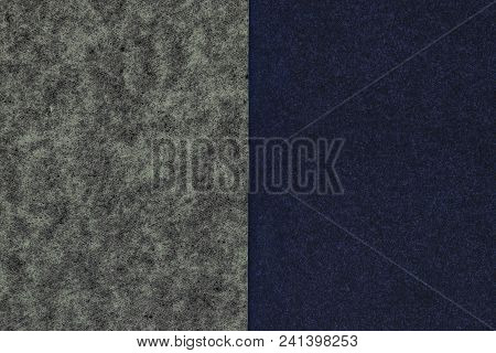 Black And Blue Lime Typing Paper Background Surface Split Into Half