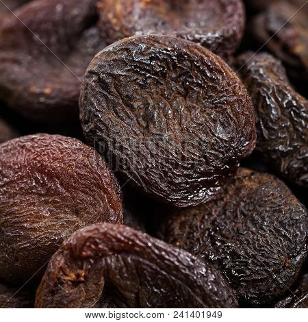 Healthy Organic Dried Apricots Background. Selective Focus.