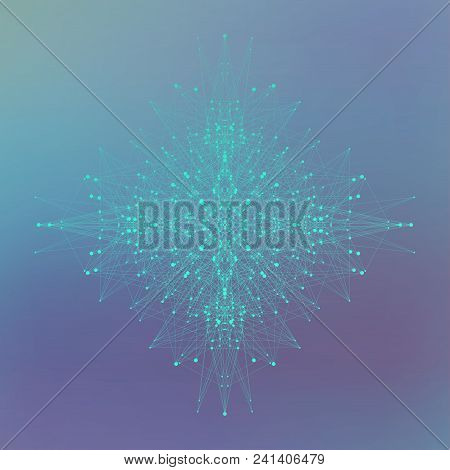 Big Data Visualization. Artificial Intelligence And Machine Learning Concept. Graphic Abstract Backg