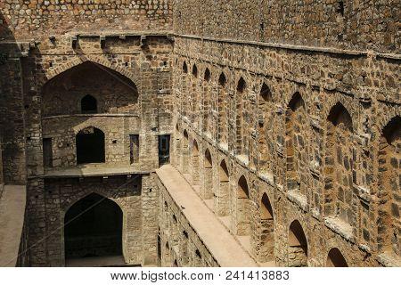 Underground Step-well Ugrasen Ki Baoli, New Delhi, India