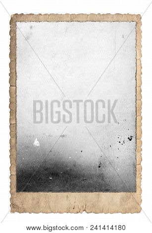 Vintage Photo Frame For Photos And Pictures. Used Paper Isolated On White Background