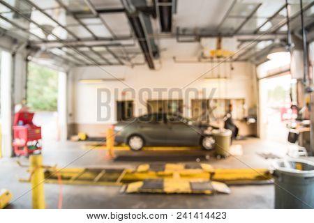 Car In Auto Repair