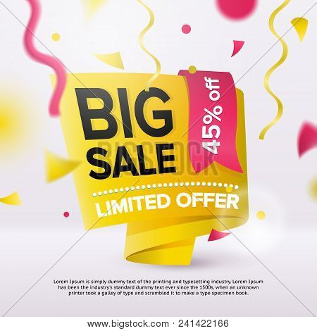 Big Sale Bright Banner Design Template. Special Offer Advertising Poster. Fashionable Banner For A S