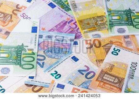 Euro. Euro Money. Euro Cash Background. Euro Money Banknotes.