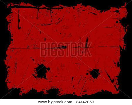 Black Grunged Border with a Red background