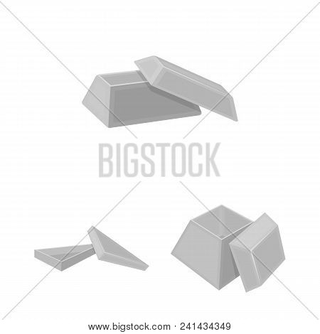 Different Boxes Monochrome Icons In Set Collection For Design.packing Box Vector Symbol Stock  Illus