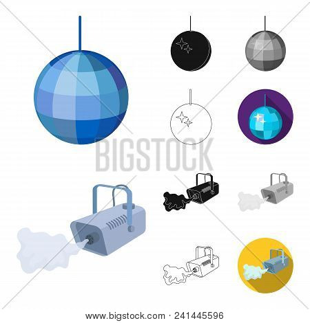 Event Organisation Cartoon, Black, Flat, Monochrome, Outline Icons In Set Collection For Design.cele