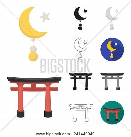 Religion And Belief Cartoon, Black, Flat, Monochrome, Outline Icons In Set Collection For Design. Ac