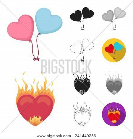 Romantic Relationship Cartoon, Black, Flat, Monochrome, Outline Icons In Set Collection For Design.