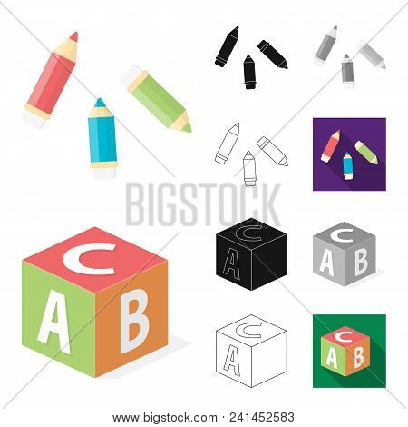 Children Toy Cartoon, Black, Flat, Monochrome, Outline Icons In Set Collection For Design. Game And