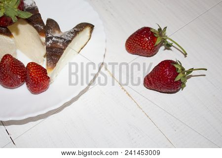 Appetizing And Delicious Beautiful Strawberries. Fresh Strawberries. Strawberry On Green Background.
