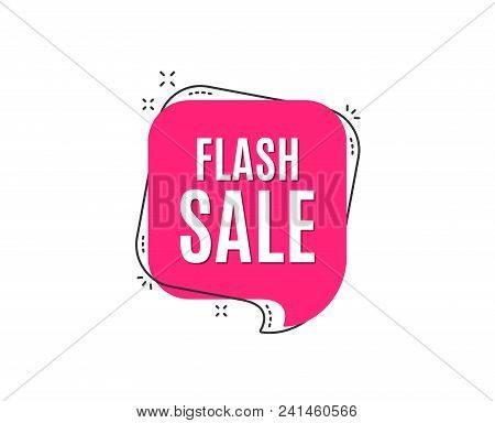 Flash Sale. Special Offer Price Sign. Advertising Discounts Symbol. Speech Bubble Tag. Trendy Graphi