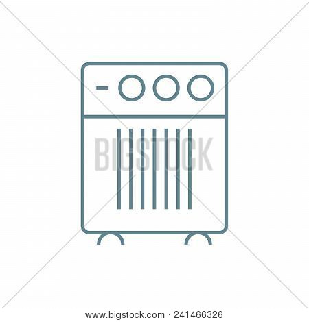 Domestic Air-conditioner Line Icon, Vector Illustration. Domestic Air-conditioner Linear Concept Sig