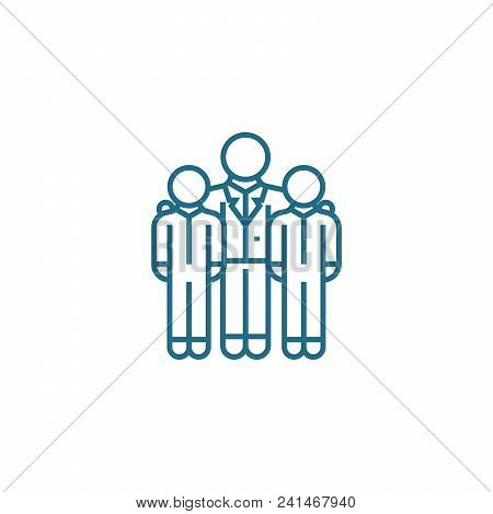 Encouraging Employees Line Icon, Vector Illustration. Encouraging Employees Linear Concept Sign.