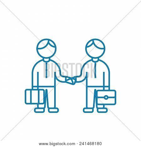 Entrepreneurial Activity Line Icon, Vector Illustration. Entrepreneurial Activity Linear Concept Sig