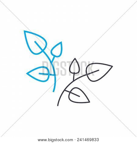 Foliage Appearance Line Icon, Vector Illustration. Foliage Appearance Linear Concept Sign.