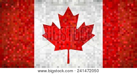 Grunge Mosaic Flag Of Canada - Illustration,  Canadian Flags Pictures And Vector,  Abstract Grunge M