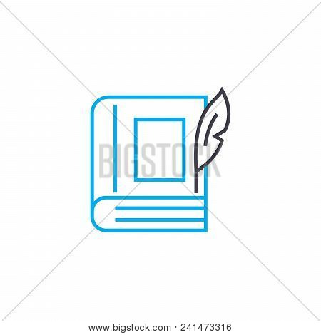 Imaginative Literature Line Icon, Vector Illustration. Imaginative Literature Linear Concept Sign.