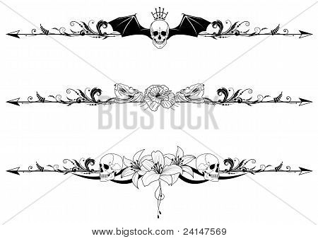 Set Of Gothic Borders