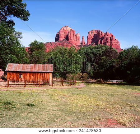 Old Farm House At Cathedral Rock Sedona Arizona