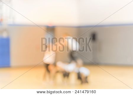 Abstract Blurred Ballerinas Rehearsing In The Ballet Class In Usa