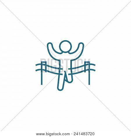 Leadership Line Icon, Vector Illustration. Leadership Linear Concept Sign.
