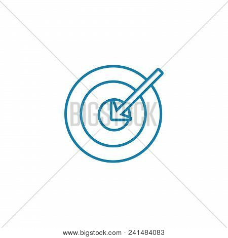 Main Objective Line Icon, Vector Illustration. Main Objective Linear Concept Sign.