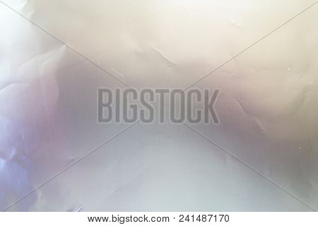 Silver Foil Background Or Texture And Gradients Shadow. Silver Background Paper, Texture Is Old Vint
