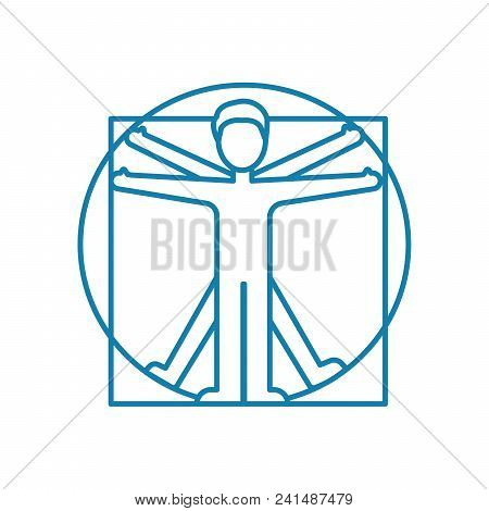 Physical Exercise Line Icon, Vector Illustration. Physical Exercise Linear Concept Sign.
