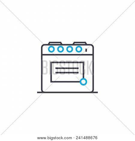 Preparing Food Line Icon, Vector Illustration. Preparing Food Linear Concept Sign.