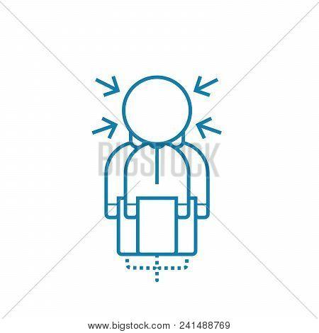 Pressure Of Circumstances Line Icon, Vector Illustration. Pressure Of Circumstances Linear Concept S