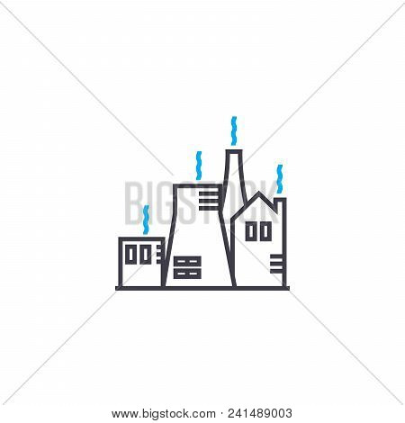 Production System Line Icon, Vector Illustration. Production System Linear Concept Sign.