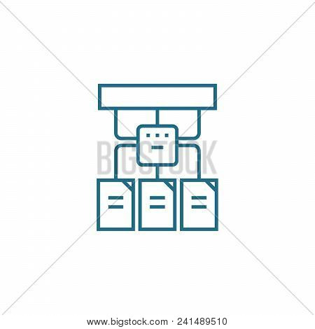 Project Structure Line Icon, Vector Illustration. Project Structure Linear Concept Sign.