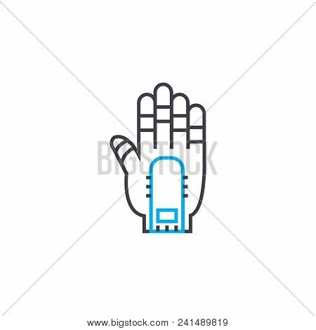 Prosthesis Line Icon, Vector Illustration. Prosthesis Linear Concept Sign.