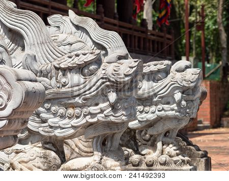 Dragon Heads At The Lam Kinh Temple In Xuan Lam And Lam Son Townlet Of Tho Xuan District, Thanh Hoa,