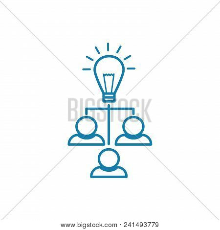 Structure Of The Company Line Icon, Vector Illustration. Structure Of The Company Linear Concept Sig