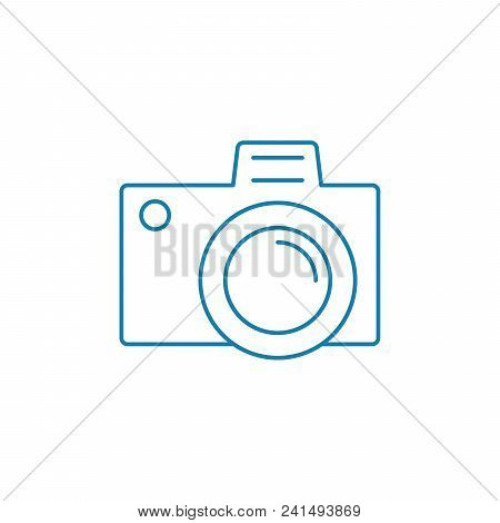 Study Of Photography Line Icon, Vector Illustration. Study Of Photography Linear Concept Sign.