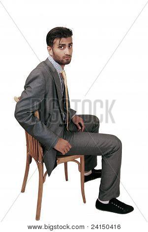 Anxious Man Waiting