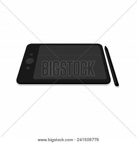 Graphic Tablet With Monitor. Modern Device For Digital Drawing