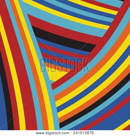 Zebra Pop  Abstract Color Stripe Fashion Pattern, Summer Optimistic Design, Art Animal Skin