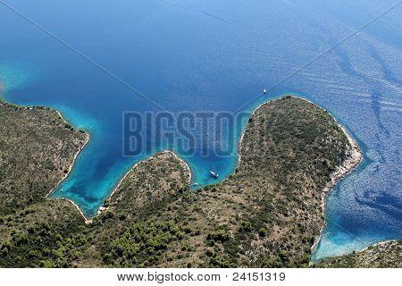 island Hvar from air