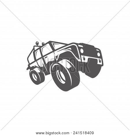 Off-road Car Isolated On White Background Vector Illustration. Expedition Suv, Expedition Offroader