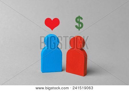 Prostitution Or Sex For Money. A Woman Offers Intimate Services For Money. Exchange Of Love For Mone