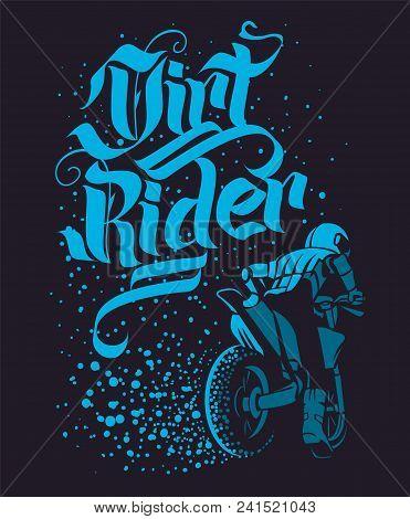Drirt Rider Motocross Freestyle Design For Apparel.