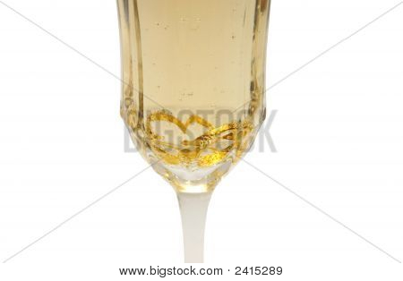 Heart Rings In Champagne